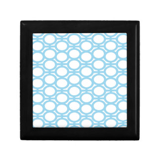 Light Blue and White Eyelets Trinket Boxes