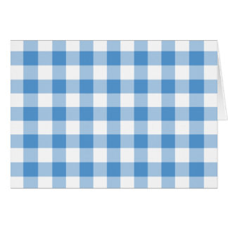 Light Blue and White Gingham Pattern Card