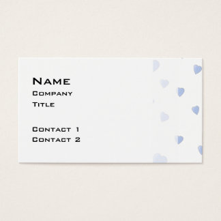 Light Blue and White Love Hearts Pattern. Business Card