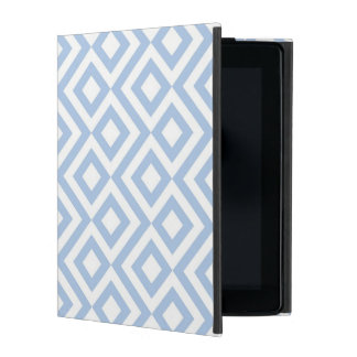 Light Blue and White Meander iPad Case