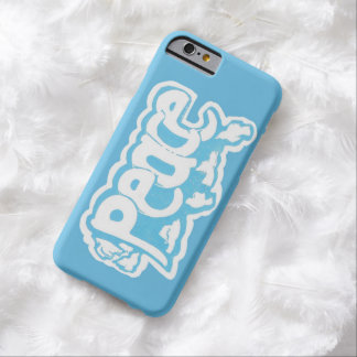 Light Blue and White Peace iPhone 6 Case Barely There iPhone 6 Case