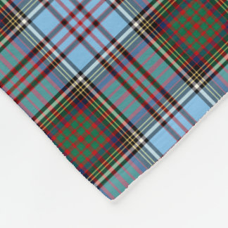 Light Blue Anderson Clan Tartan Fleece Blanket