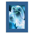 Light Blue Angel Greeting Card