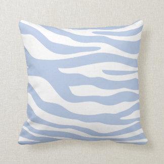 Light Blue Animal Print Pattern Throw Pillow