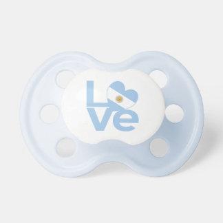 Light Blue Argentine LOVE Pacifier