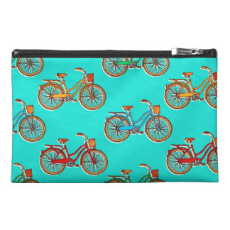 Light Blue Bicycle Cosmetic Accessory Bag