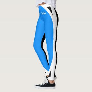 Light Blue Black and White Leggings