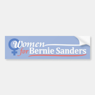 Light Blue Bumper Sticker Women for Bernie