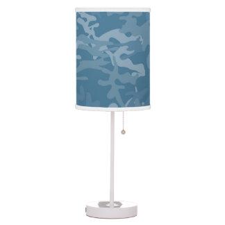 Light Blue Camo Accent   Lamp