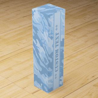 Light Blue Camo w/ Custom Text Wine Boxes