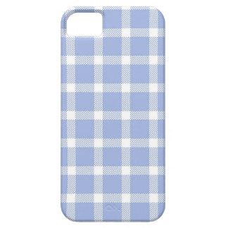 Light Blue Check iPhone 5 Case