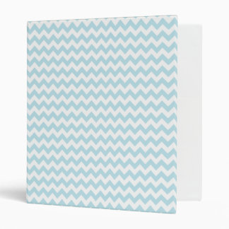 Light Blue Chevron Zig Zag 3 Ring Binders