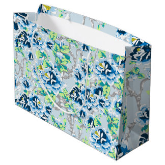 Light Blue Chintz Gift Bag
