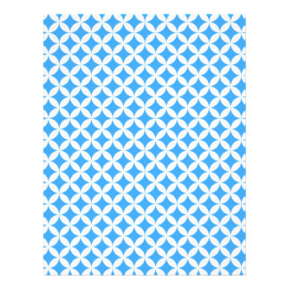 Light Blue Circle Pattern Letterhead