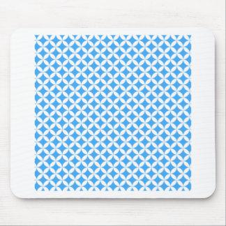 Light Blue Circle Pattern Mouse Pad