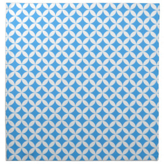 Light Blue Circle Pattern Napkin