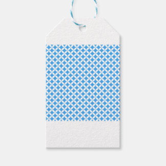 Light Blue Circle Pattern Pack Of Gift Tags