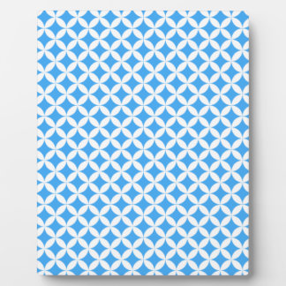 Light Blue Circle Pattern Plaque
