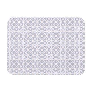 Light Blue Circle Pattern Rectangular Photo Magnet