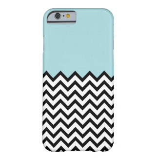 Light Blue Colour Block Chevron iPhone 6 case Barely There iPhone 6 Case