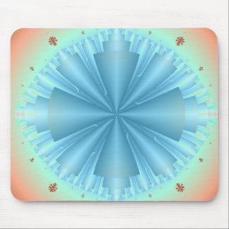Light Blue Cones Abstract Mousepad