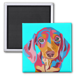 Light Blue Dachshund Refrigerator Magnet