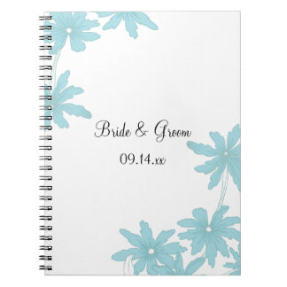 Light Blue Daisies Wedding Notebook