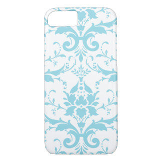 Light Blue Damask iPhone 7 case