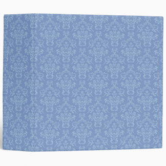 Light blue Damask pattern 3 ring binder