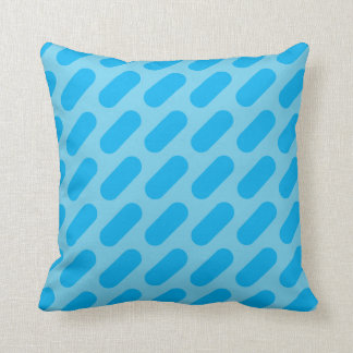 Light Blue & Dark Blue Dashes Throw Pillow