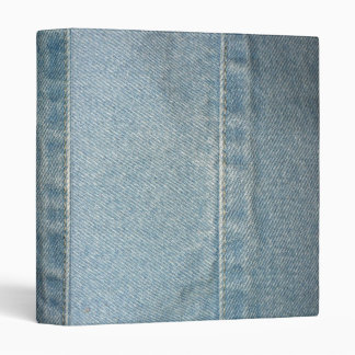 Light Blue Denim 3 Ring Binders