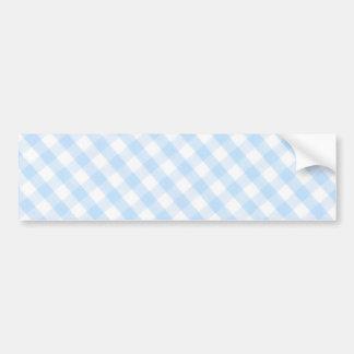 Light blue diagonal gingham pattern bumper sticker