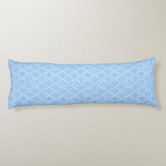 Light Blue Diamond Pattern Print Body Pillow