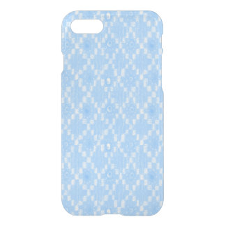Light Blue Diamond Pattern Print iPhone 8/7 Case