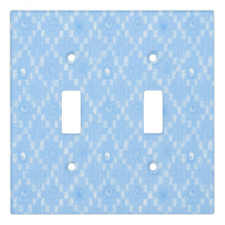 Light Blue Diamond Pattern Print Light Switch Cover
