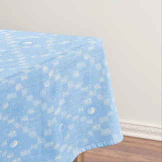 Light Blue Diamond Pattern Print Tablecloth