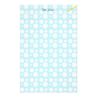 light blue dots, a simple, pleasant decoration custom stationery