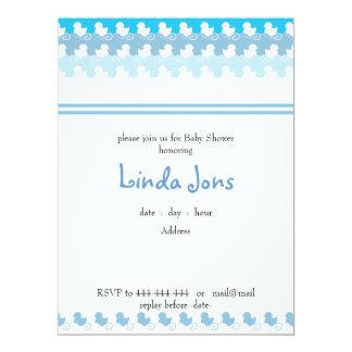 light blue duck row baby shower invitation