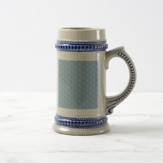 Light Blue Fabric Effect Beer Stein