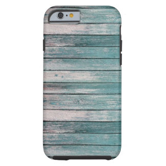 Light Blue Faded Wood Tough iPhone 6 Case