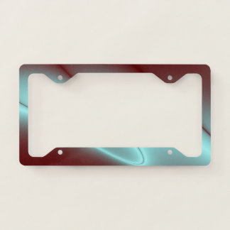 Light Blue Flash License Plate Frame