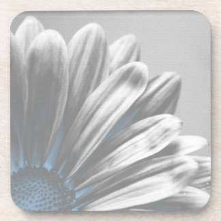 Light Blue Floral Highlights Cork Coaster Set