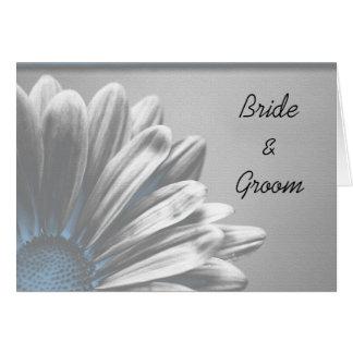 Light Blue Floral Highlights Wedding Invitation