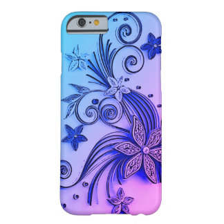 Light Blue floral ornament, decorative art, waves Barely There iPhone 6 Case