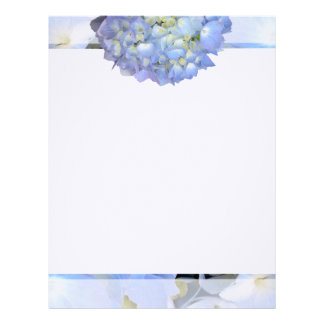 Light Blue Floral Writing Paper