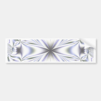 Light Blue Fractal Background Bumper Sticker