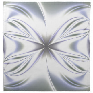 Light Blue Fractal Background Napkin