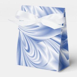 Light Blue Fractal Butterfly Favor Box