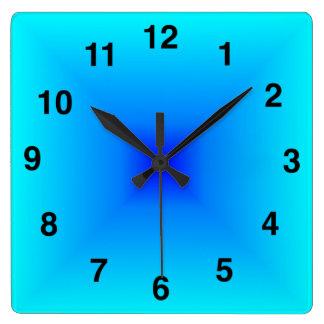 Light Blue Gradient Clock