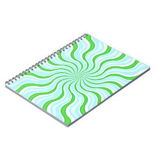 Light Blue & Green Stripe Notebook